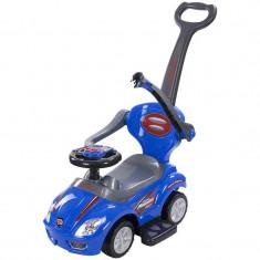Masinuta fara pedale mega car delux cu control parental, depozitare jucarii - Sun Baby - Albastru