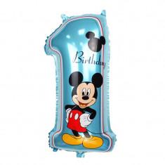 Balon folie Super Mickey Mouse cifra 1 70 x 35 CM