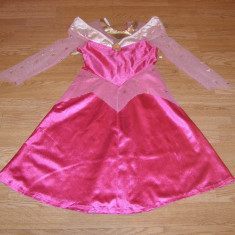 costum carnaval serbare aurora frumoasa adormita pentru copii de 4-5-6 ani