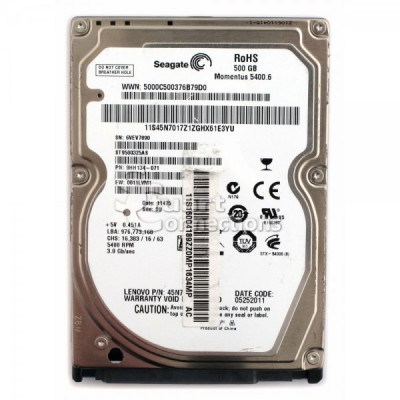 Hard disk laptop second hand Seagate 500 GB Momentus 5400.6 foto