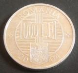 Moneda 1000 Lei - ROMÂNIA, anul 2004 *cod 2217  XF  ALLU