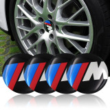 Cumpara ieftin Set 4 bucati stickere capac central janta Bmw M power