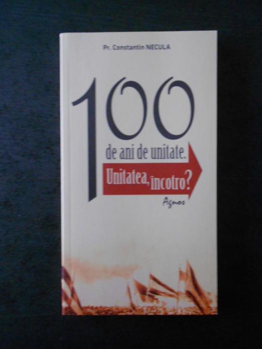 Pr. CONSTANTIN NECULA - 100 DE ANI DE UNITATE. UNITATEA, INCOTRO  {2018}