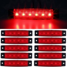 Lampa laterala 6 LED-uri rosie 24v