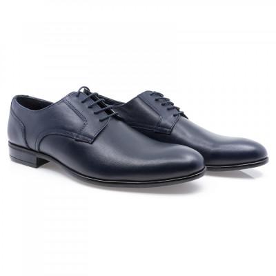 Pantofi barbati Goretti din piele naturala Gor-41155-Navy foto