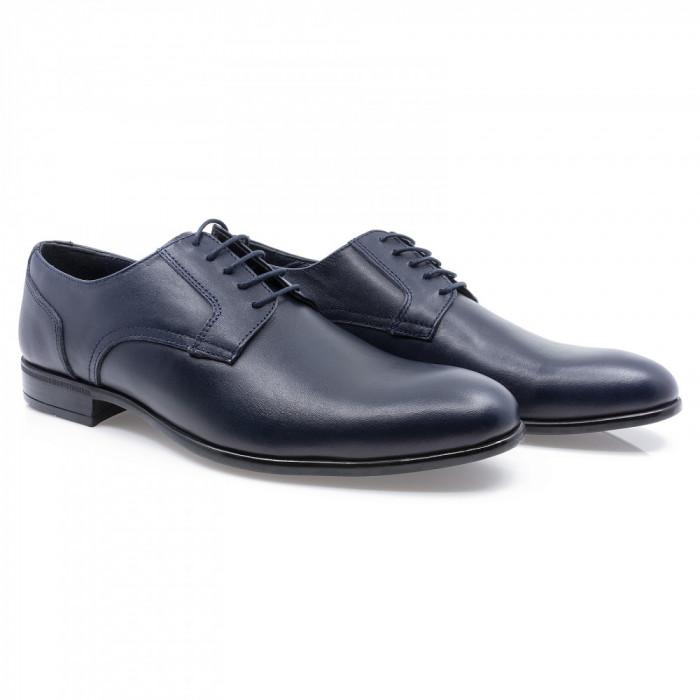 Pantofi barbati Goretti din piele naturala Gor-41155-Navy