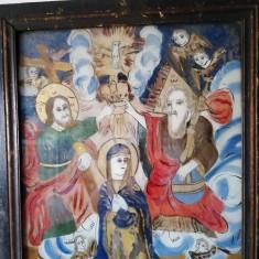"""""""Celebrarea Fecioarei Maria"""" - de Ion Prodan, Majerii Alba Iulia, icoana sticla"""