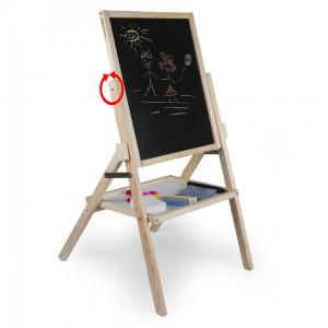 Tabla de scris 2 in 1, cu picioare - lemn natur
