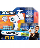Pistol X-Shot Excel Micro cu 8 gloante de spuma si 3 tinte
