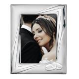 Rama Foto Argint 18x24cm Casatorie – model Verighete COD: 3112
