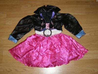 costum carnaval serbare rochie dans rock&roll pentru copii de 3-4 ani foto