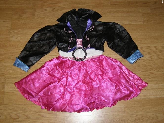 costum carnaval serbare rochie dans rock&roll pentru copii de 3-4 ani