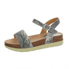 Sandale sic, gri, cu platforma foto