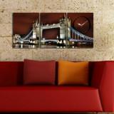 Cumpara ieftin Tablou decorativ cu ceas Clockity, 248CTY1677, Multicolor