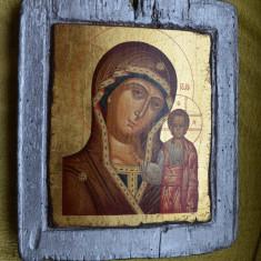 Icoana veche RUSIA secol 18 /  Icoana ruseasca Maica Domnului din Kazan