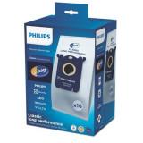 Set 16 saci microfibra pentru aspirator Philips PowerGo FC8244, FC8245