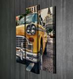 Tablou decorativ pe panza Majestic, 3 Piese, 257MJS3284, Multicolor