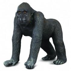 Figurina Gorila Occidentala Collecta, 8.5 x 5 x 8.5 cm, 3 ani +
