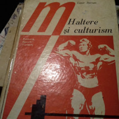 HALTERE SI CULTURISM - LAZAR BAROGA, ED SPORT TURISM 1977, ED A II A COTOR LIPIT