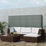 Set mobilier de grădină 14 piese, poliratan, maro