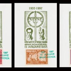 1997 Exil Romania - 3 Maxime comemorative Majadahonda, legionari Mota si Marin
