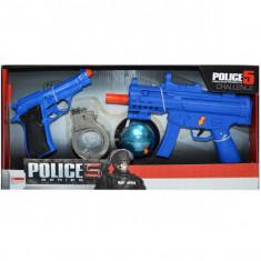 Set politist - mitraliera, pistol, catuse, girofar
