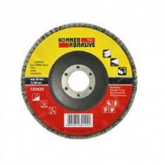 Disc lamelar frontal otel inox, Konner 115 x 22 mm, P60
