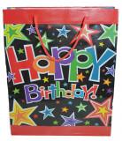 Punga pentru cadouri-Midex Happy Birthday PCM3-R, Rosu