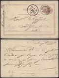 Sweden 1882 Old postcard stationery Helsingborg to Copenhagen Denmark DB.015