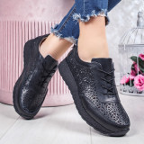 Pantofi sport dama Piele negri Salira -rl
