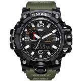 Cumpara ieftin Ceas Sport Subacvactic Militar ARMY SMAEL 1545 Dual Time Calendar 2 culori, Lux - sport, Quartz, Cauciuc