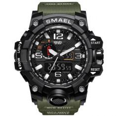 Ceas Sport Subacvactic Militar ARMY SMAEL 1545 Dual Time Calendar 2 culori