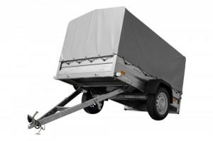 REMORCA TRANSPORT UȘOARĂ 200 X 125 CU SCHELET PRELATĂ ȘI PRELATĂ MMA 750kg