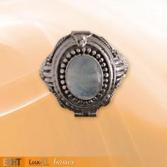 Inel Poison Ring cu piatra lunii R162M
