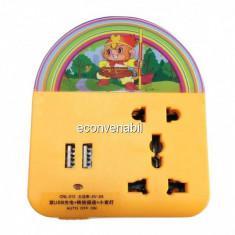 Lampa de Veghe cu USB si Adaptori Universali Priza CNL312