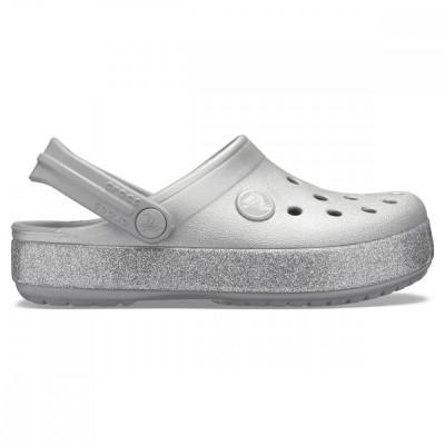 Saboți Fete casual Crocs Kids' Crocband Glitter Clog foto