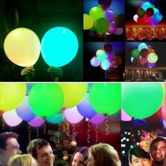 Baloane cu LED, culori luminoase variate, diametru 40 cm