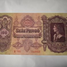 Bancnota Ungaria - 100 Pengo 1930 - Matyas Kiraly