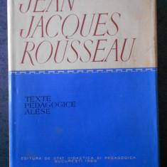 JEAN JACQUES ROUSSEAU - TEXTE PEDAGOGICE ALESE