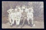 SOLDATI GERMANI CU HALATE SI PIJAMALE , FOTOGRAFIE DE GRUP , CARTE POSTALA ILUSTRATA , MONOCROMA, CIRCULATA , DATATA 1916