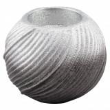 Suport lumanare de craciun, 7 cm, argintiu