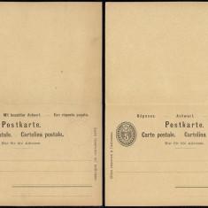 Switzerland - Postal History Rare Old Postal stationery + Reply UNUSED DB.122