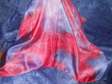 Batic matase naturala spuma, Multicolor