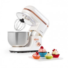 Klarstein Bella Elegance, robot de bucătărie, 1300 W, 1,7 HP, 6 nivele, 5 litri, alb