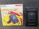Walkman Sanyo MGR 72. Stereo Radio / Cassette Player. Nefunctional.