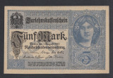 A1000 Germany Germania 5 mark 1917 aUNC