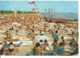 % carte postala (ilustrata) -COSTINESTI -Plaja, Circulata, Printata