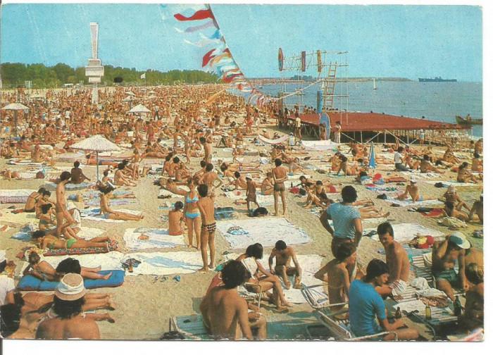 % carte postala (ilustrata) -COSTINESTI -Plaja