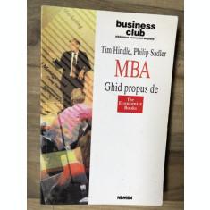 Tim Hindle / Philip Sadler - MBA