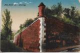 Carte postala austro-ungara Ada Kaleh cetatea, Necirculata, Printata